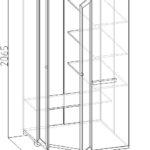 угловой шкаф купе на балкон