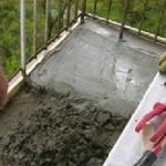 Укладка первой порции цементного раствора