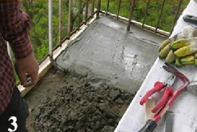 Как выровнять пол на балконе своими руками (видео).
