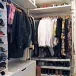 шкаф для одежды на балконе