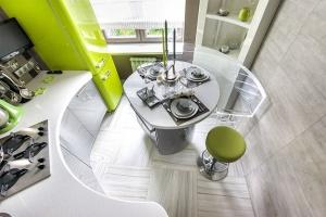 зеленая кухня хай тек