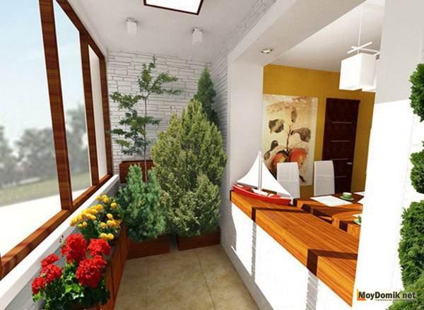 зимний сад на балконе квартиры