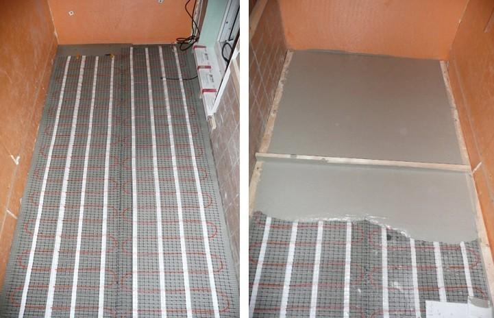 теплый пол электрический на балконе