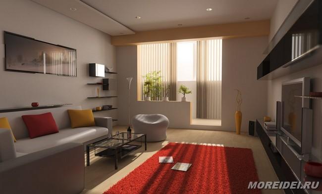 Дизайн гостинной с балконом фото