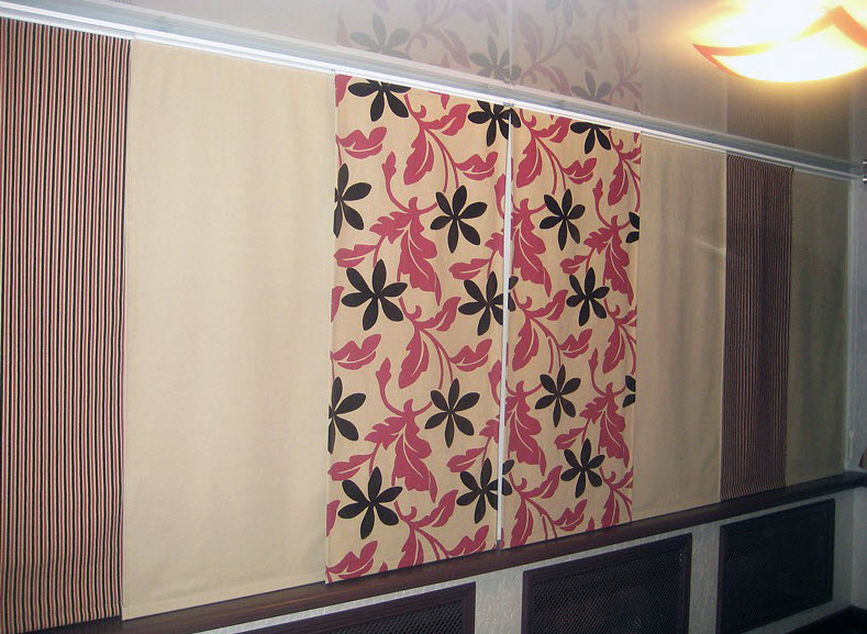 Японские панельные шторы на балкон