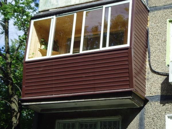 Обшивка балкона сайдингом снаружи своими руками 6
