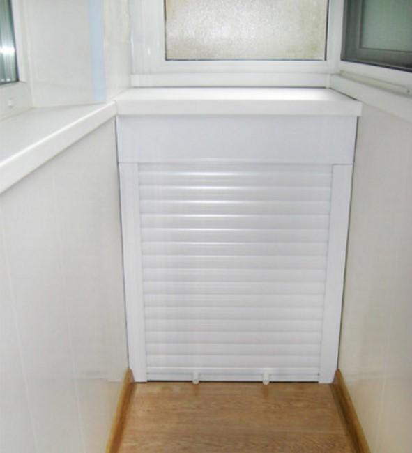 Шкаф на балкон с рольставнями - фото, особенности, установка.