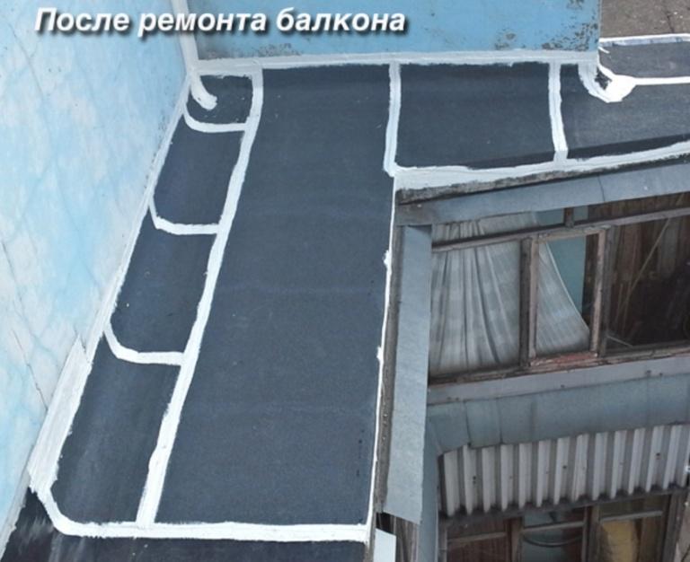 Протекает крыша на балконе последнего этажа.