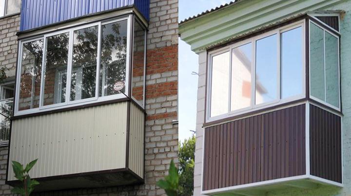 Отделка балкона профнастилом снаружи своими руками - видео.