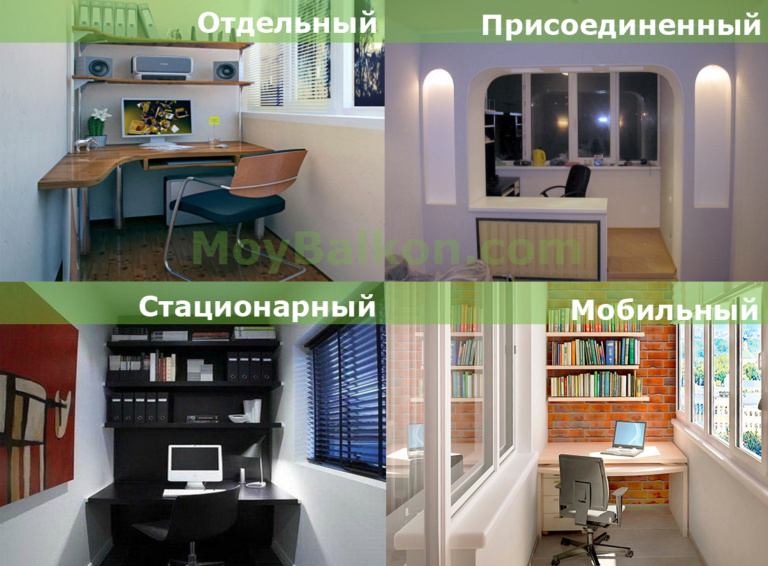 Как сделать рабочий кабинет на балконе своими руками (фото).
