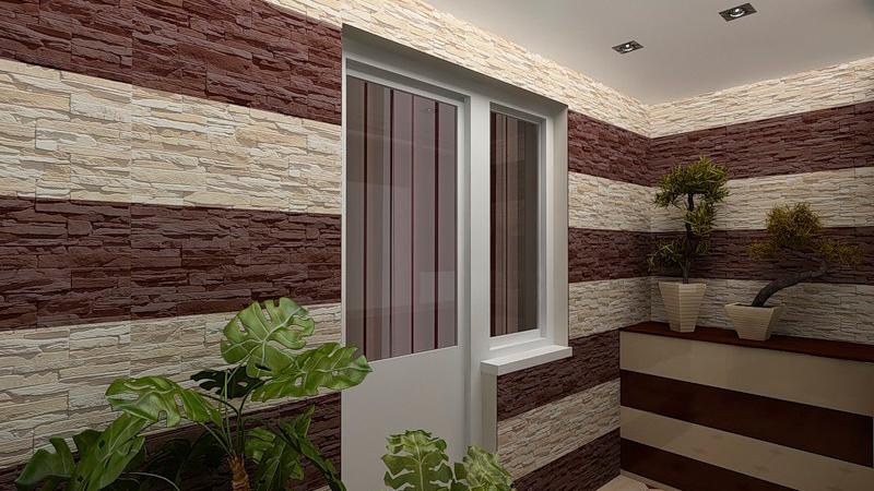 Отделка лоджии и балкона декоративным искусственным камнем: .