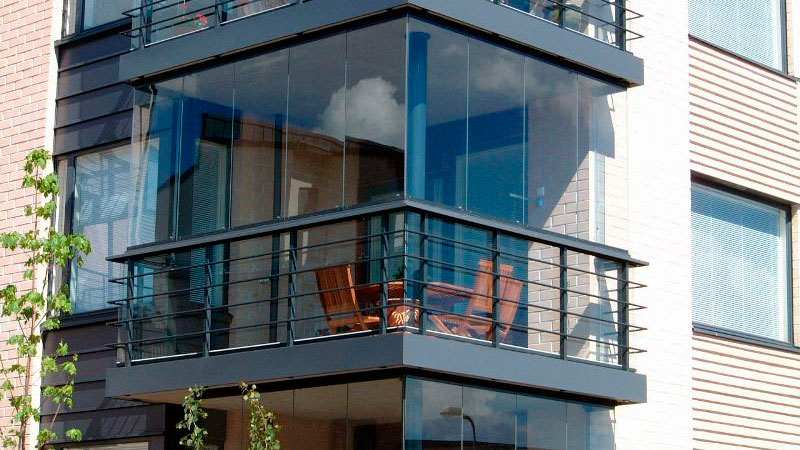 Французский балкон внутри