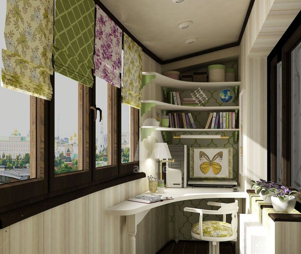 Балкон в стиле прованс своими руками - фото интерьер.