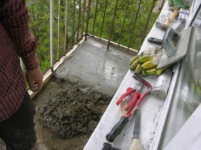 заливка стяжки на открытом балконе