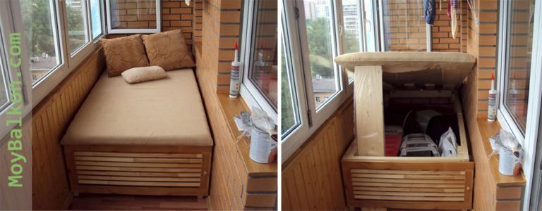 Диван сундук на балкон своими руками 17
