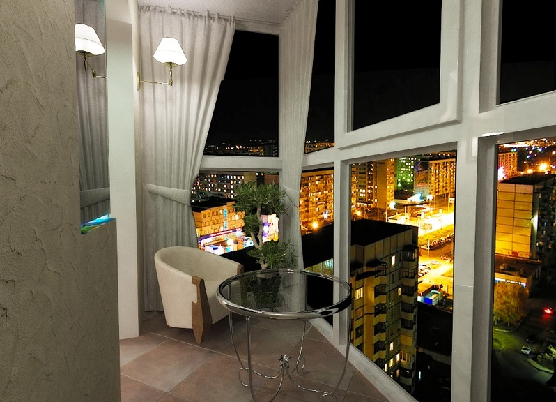 балкон с панорамным остеклением фото дизайн