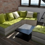 мягкий угловой диван для лоджии