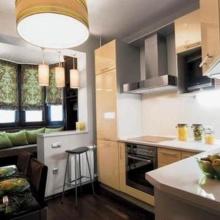 балкон совмещен с кухней