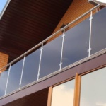перила на балкон из нержавеющей стали