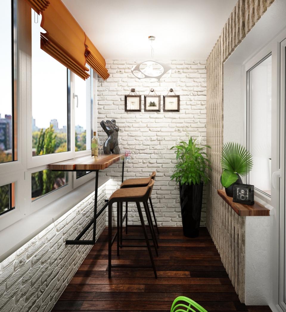 Балкон или лоджия в стиле лофт своими руками - фото.
