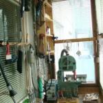 столярная мастерская на балконе