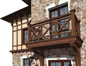 балконы деревянные фото