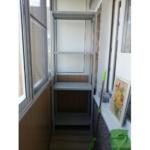 металлический стеллаж для балкона