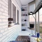 внутренняя отделка кирпичом балкона