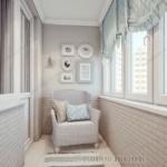 белый кирпич на балконе