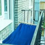 гамак на открытом балконе