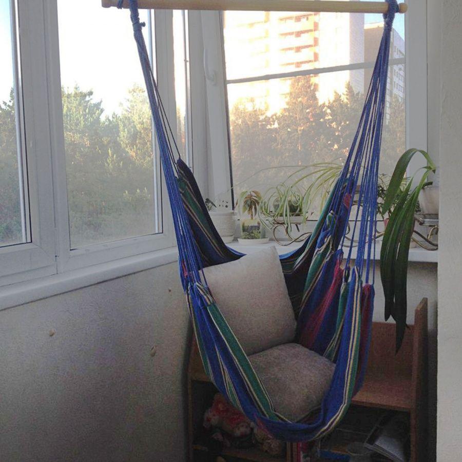 Гамак на балконе - как повесить своими руками, фото и видео.