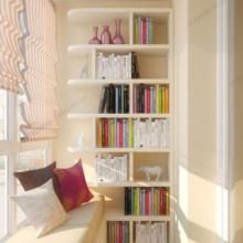 полка для книг на балконе