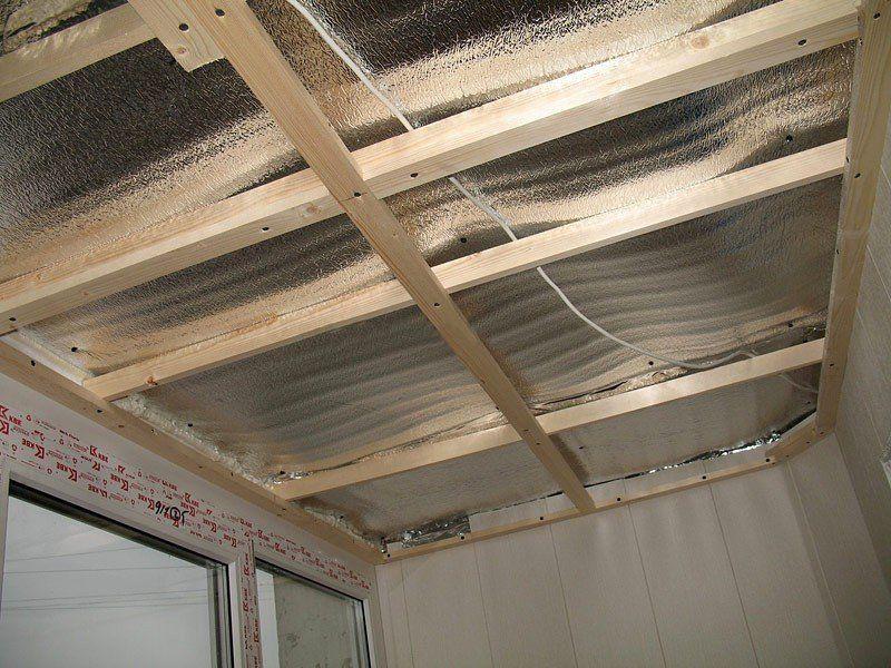 Утепление потолка лоджии и балкона своими руками (видео).