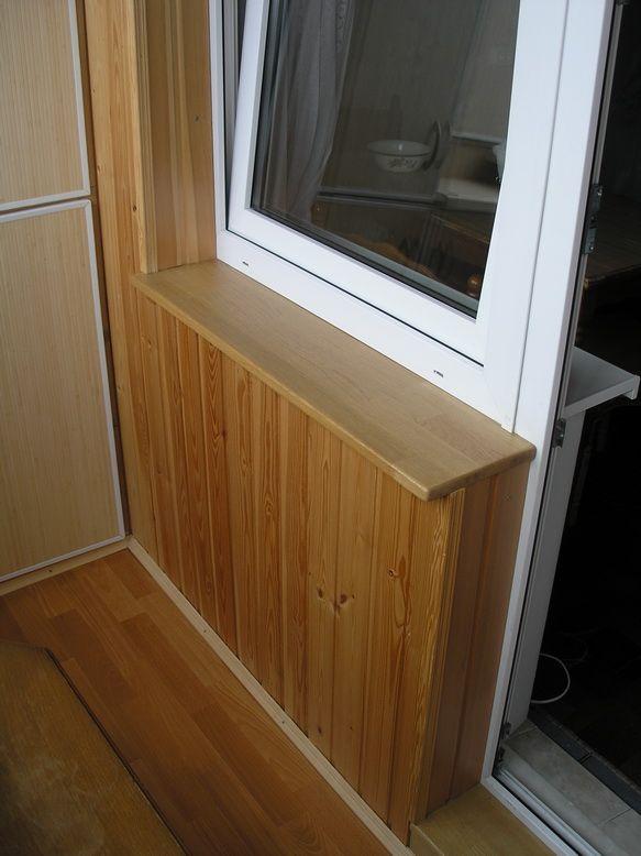 Как сделать подоконник деревянный на балконе