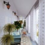 балкон с растениями