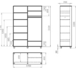 чертежи полок на балкон