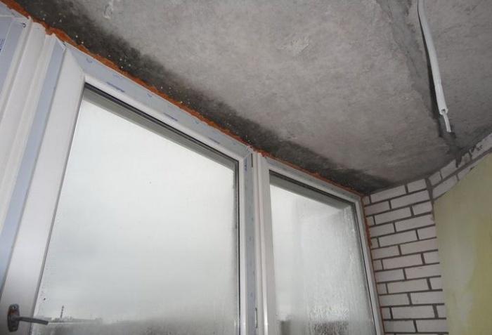 конденсат на балконе на потолке