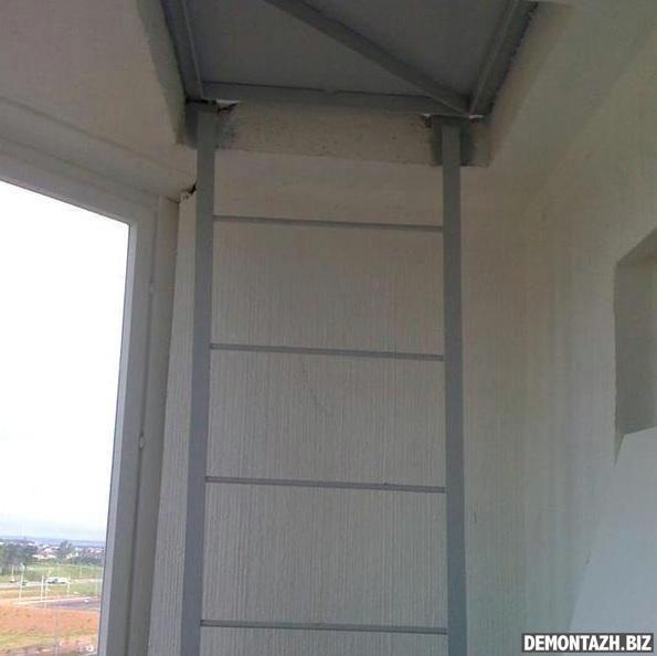 Пожарная лестница на балконе: как украсить или срезать, фото.