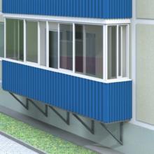 Обшивка балкона: профлист или профнастил