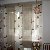 тюль для кухни окно с балконом