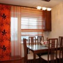 шторы для кухни с лоджией