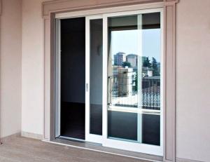 Белые алюминиевые раздвижные двери