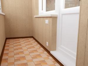 укладка плитки на пол на балконе