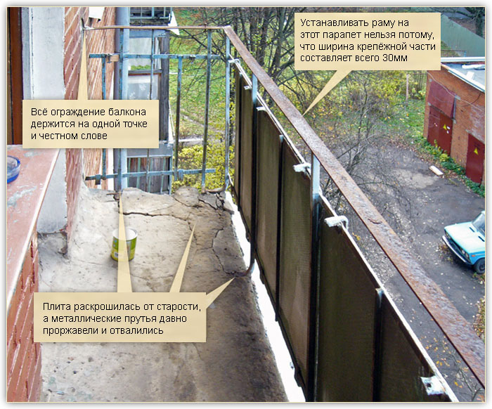 балкон из алюминиевого уголка своими руками