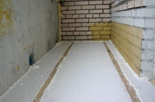 утепление пола на балконе пенопластом