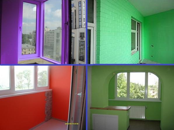 как покрасить балкон внутри фото