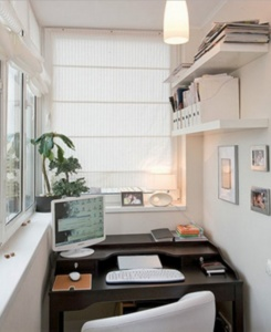 как обустроить кабинет на балконе