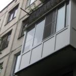 застекленный балкон в хрущевке фото