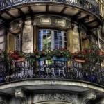 цветы на французском балконе