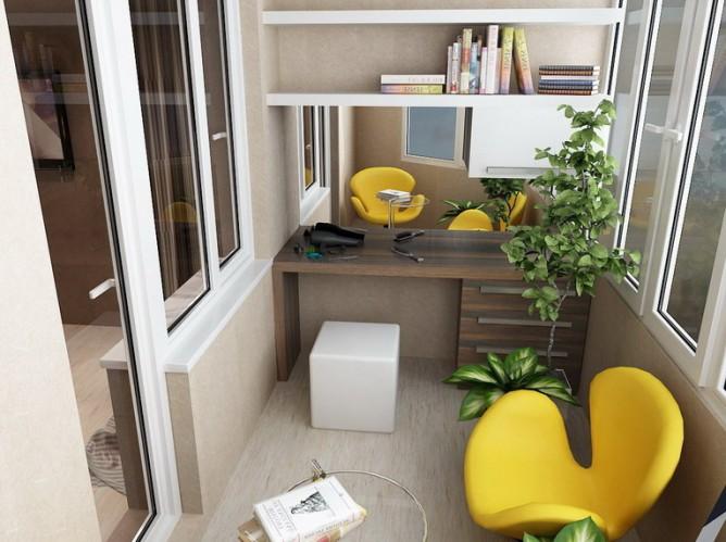 личный кабинет из балкона